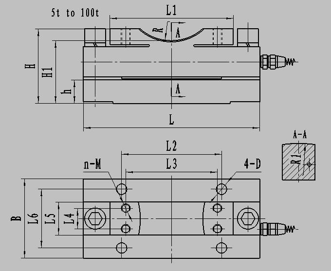 td552 ended beam load cells